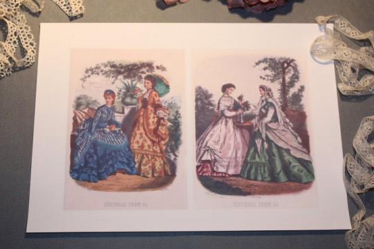 Pour vos créations textiles :  pochette de 2 images à transférer